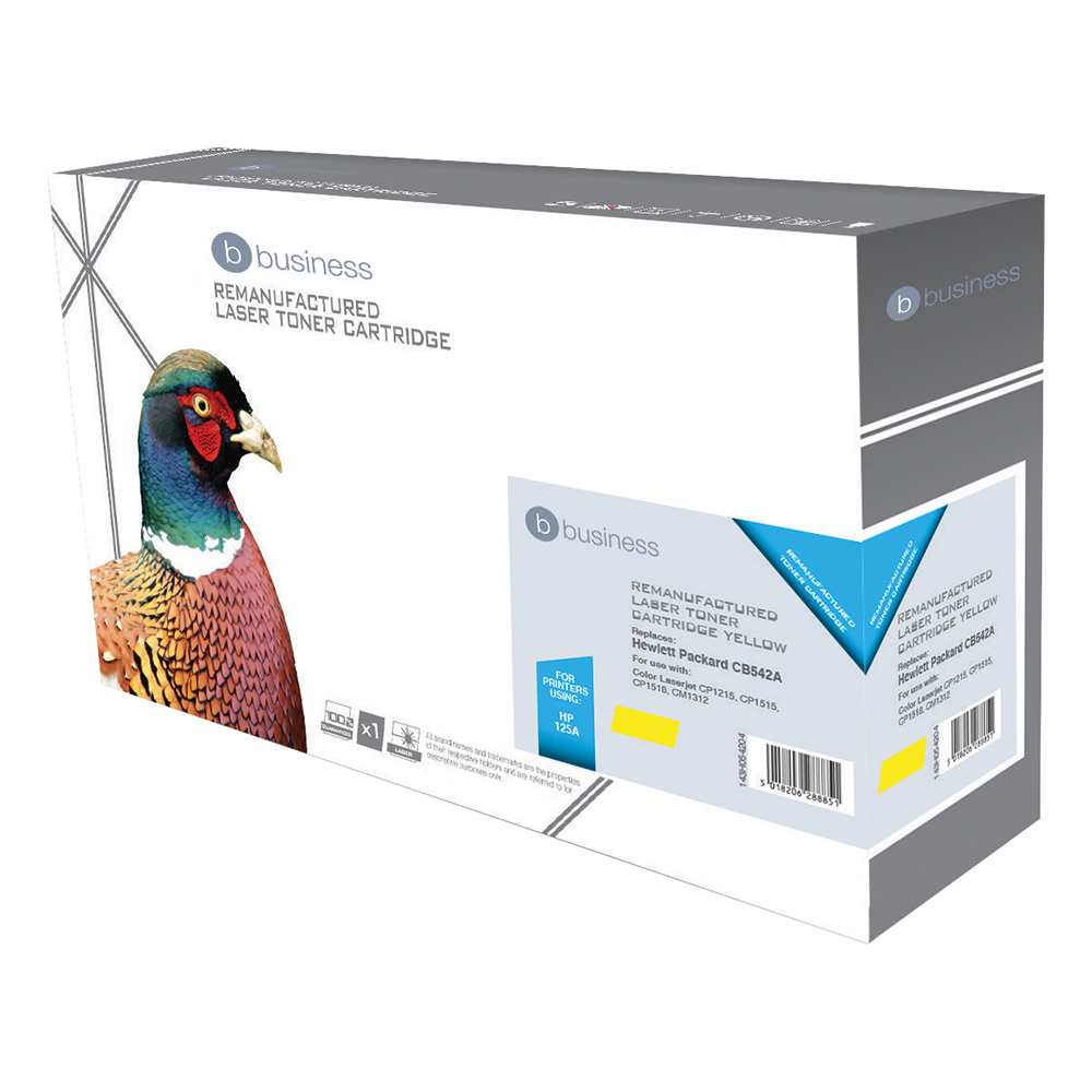 Business Compatible HP Laser Toner Cartridge 125A Yellow (Pack of 1)