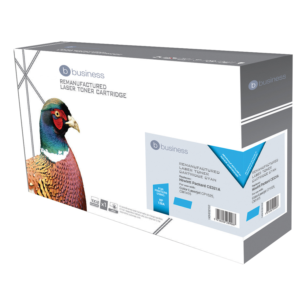 Business Compatible HP Laser Toner Cartridge 128A Cyan (Pack of 1)