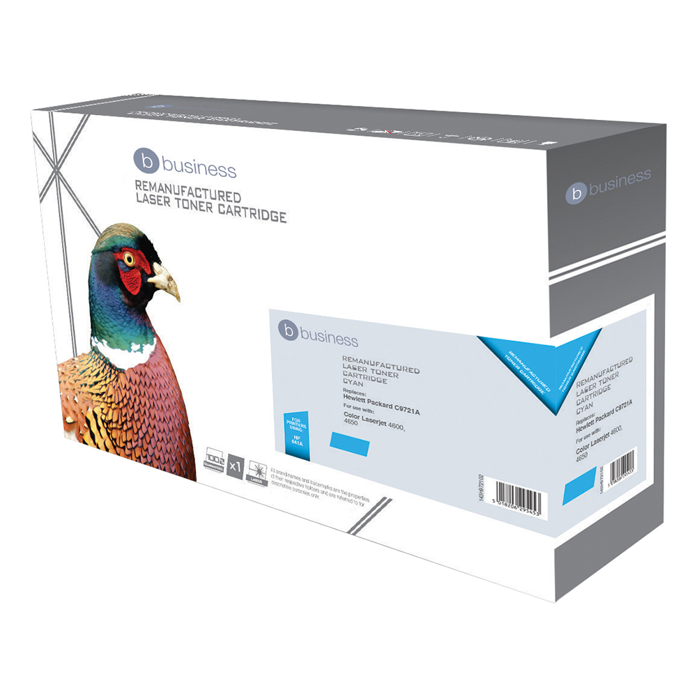 Business Compatible HP Laser Toner Cartridge 641A Cyan (Pack of 1)