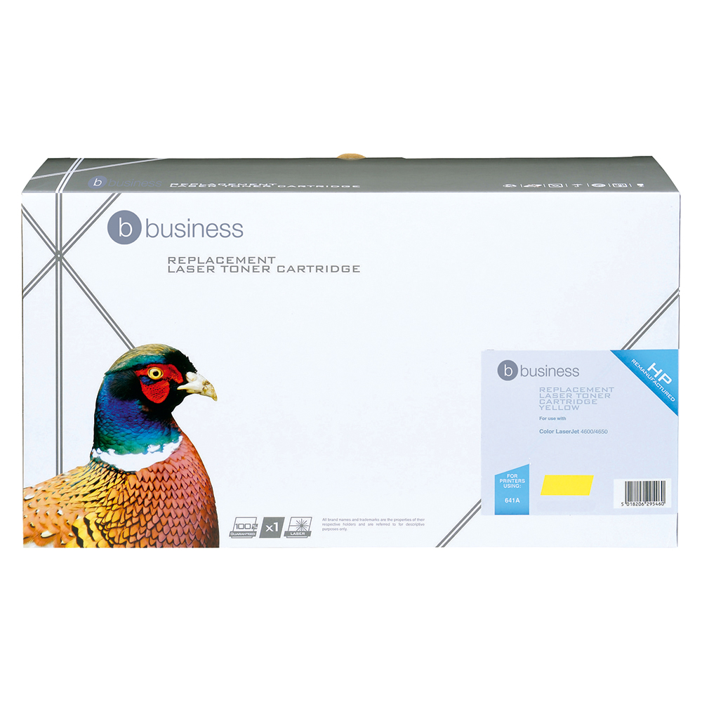 Business Compatible HP Laser Toner Cartridge 641A Yellow (Pack of 1)