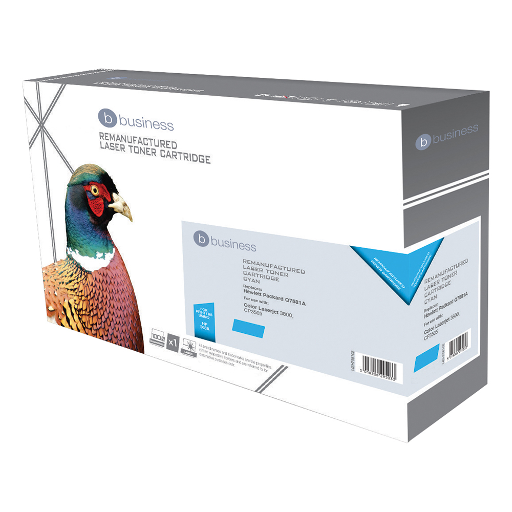 Business Compatible HP Laser Toner Cartridge 503A Cyan (Pack of 1)