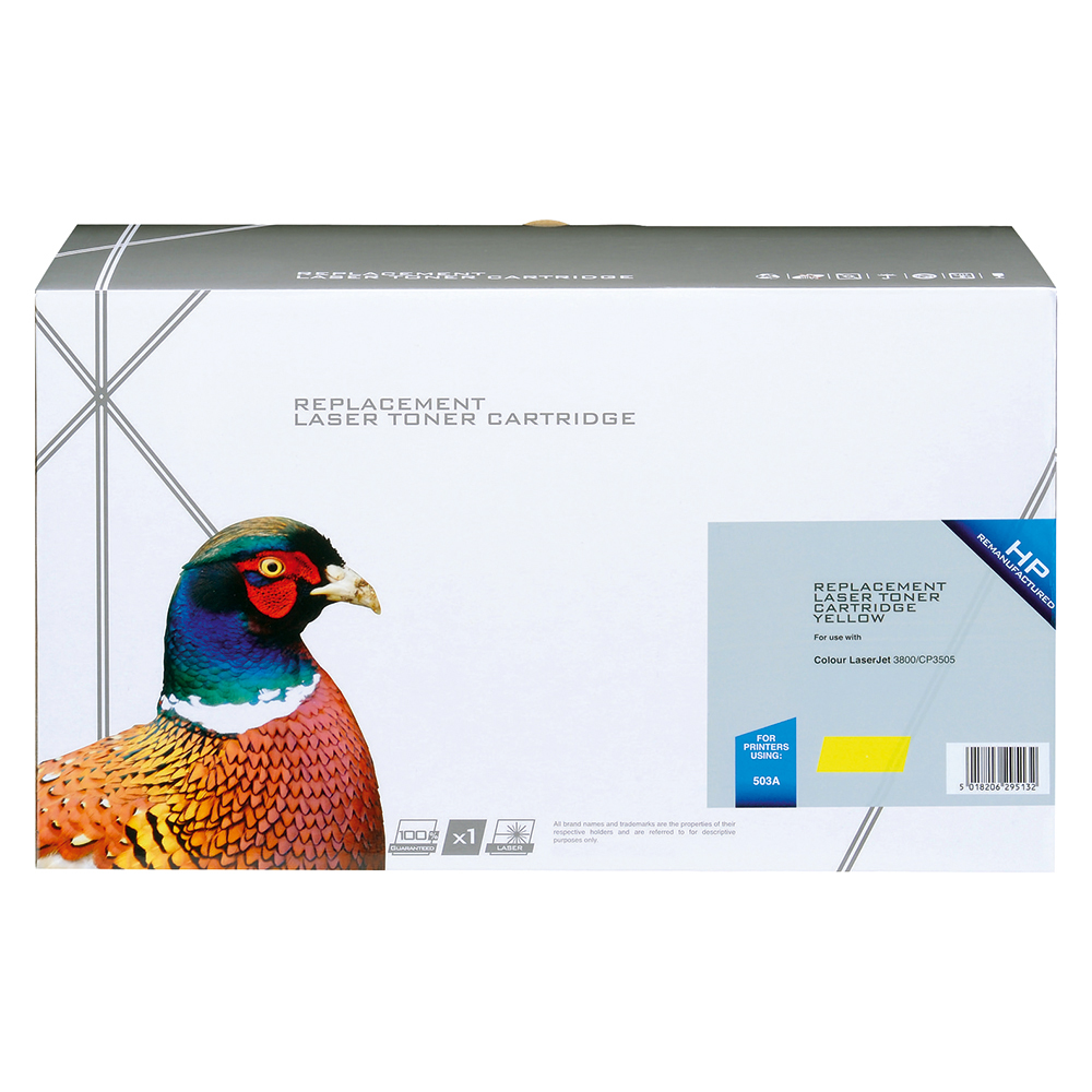 Business Compatible HP Laser Toner Cartridge 503A Yellow (Pack of 1)