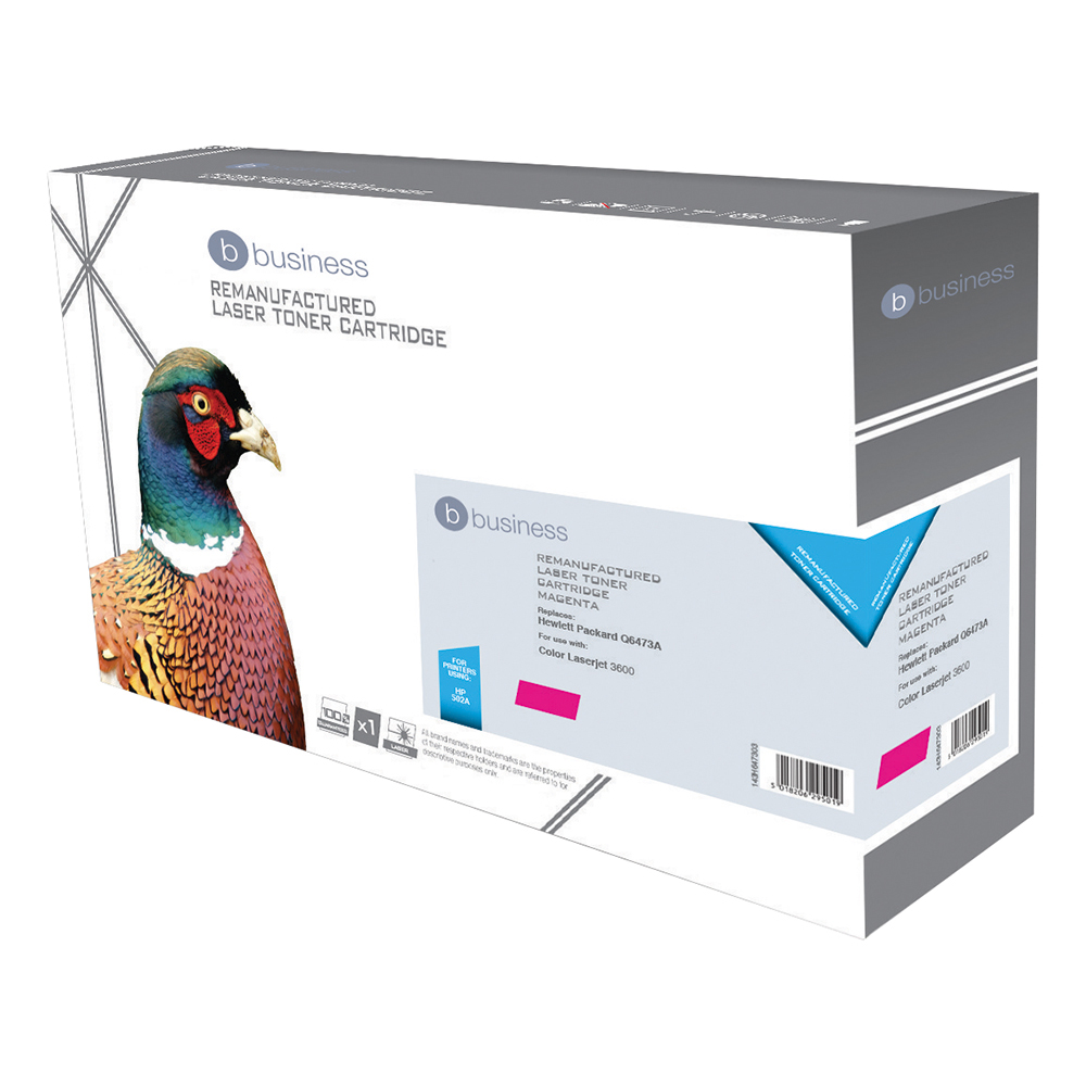 Business Compatible HP Laser Toner Cartridge 502A Magenta (Pack of 1)