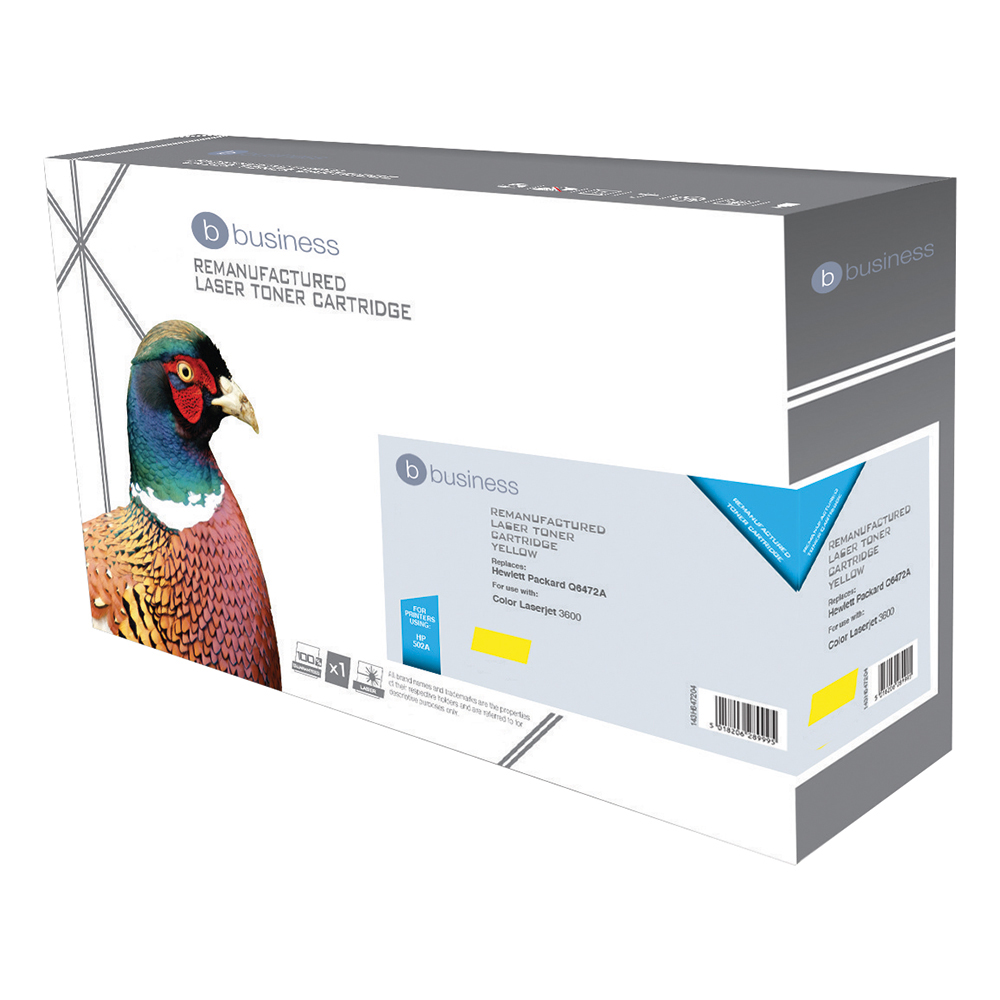 Business Compatible HP Laser Toner Cartridge 502A Yellow (Pack of 1)