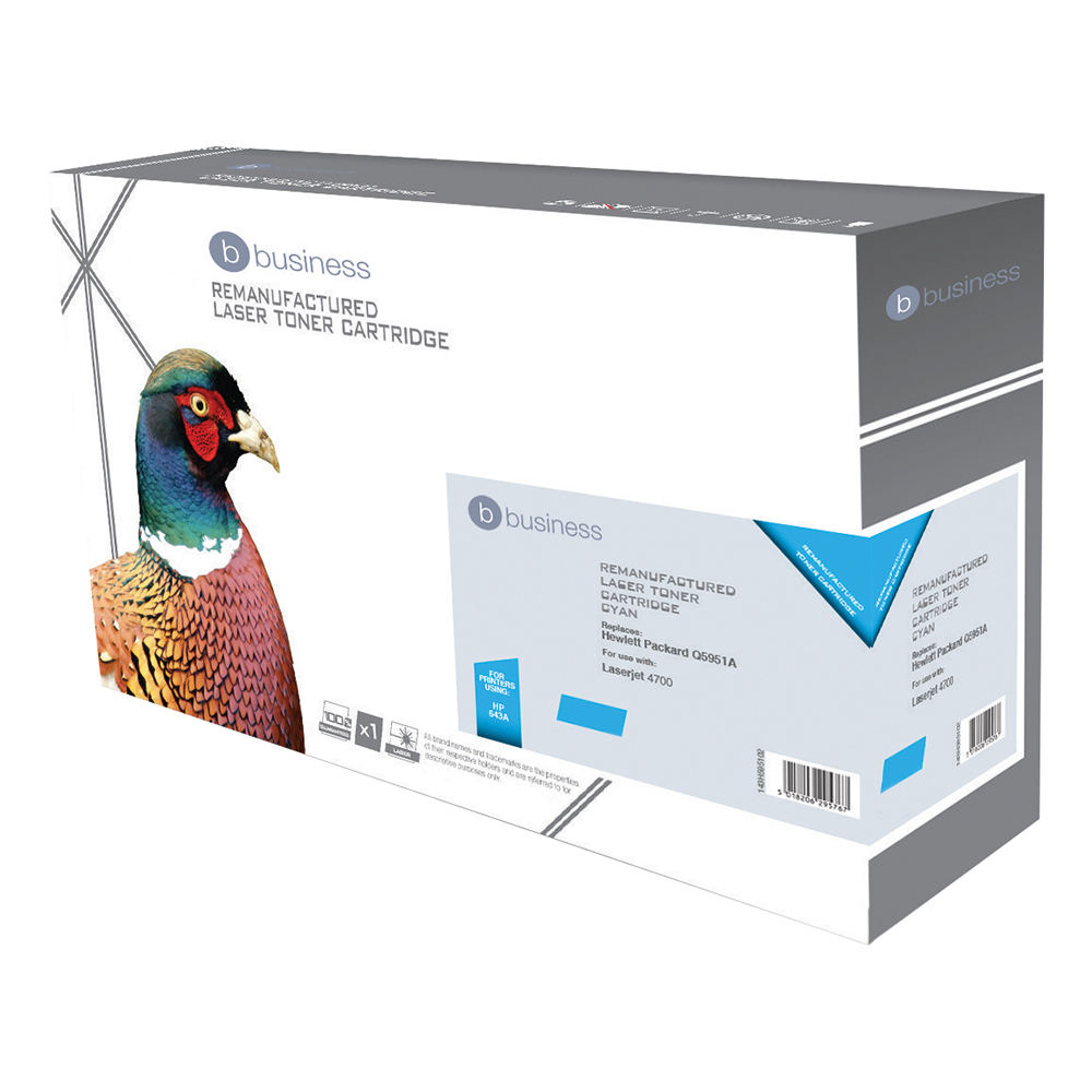 Business Compatible HP Laser Toner Cartridge 643A Cyan (Pack of 1)