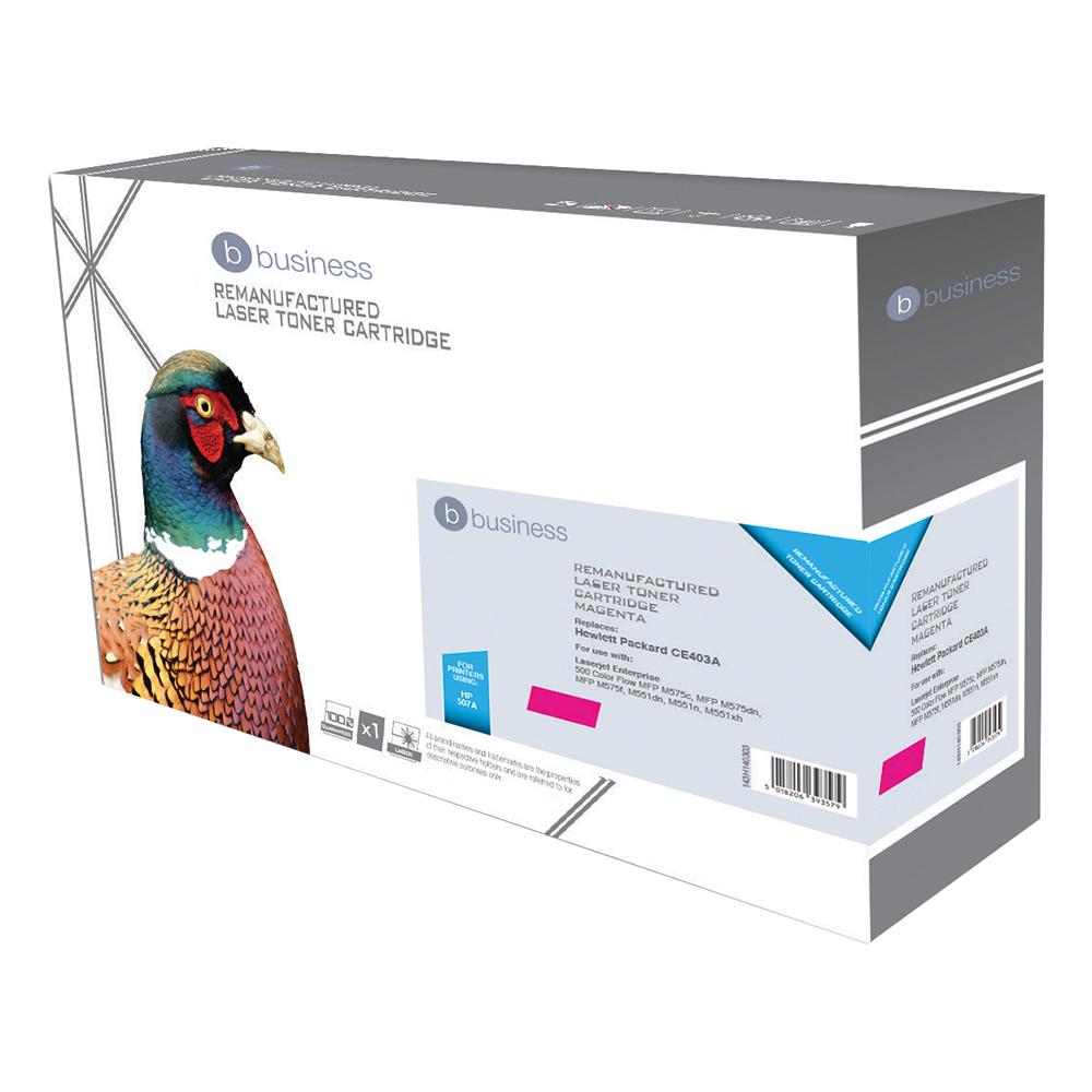 Business Compatible HP Laser Toner Cartridge 507A Magenta (Pack of 1)