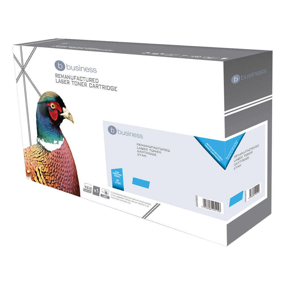 Business Compatible HP Laser Toner Cartridge 312A Cyan (Pack of 1)