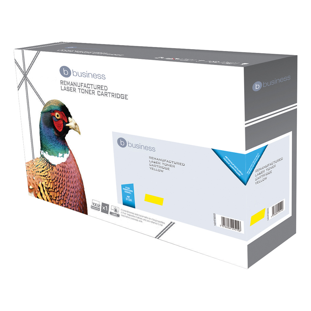 Business Compatible HP Laser Toner Cartridge 312A Yellow (Pack of 1)