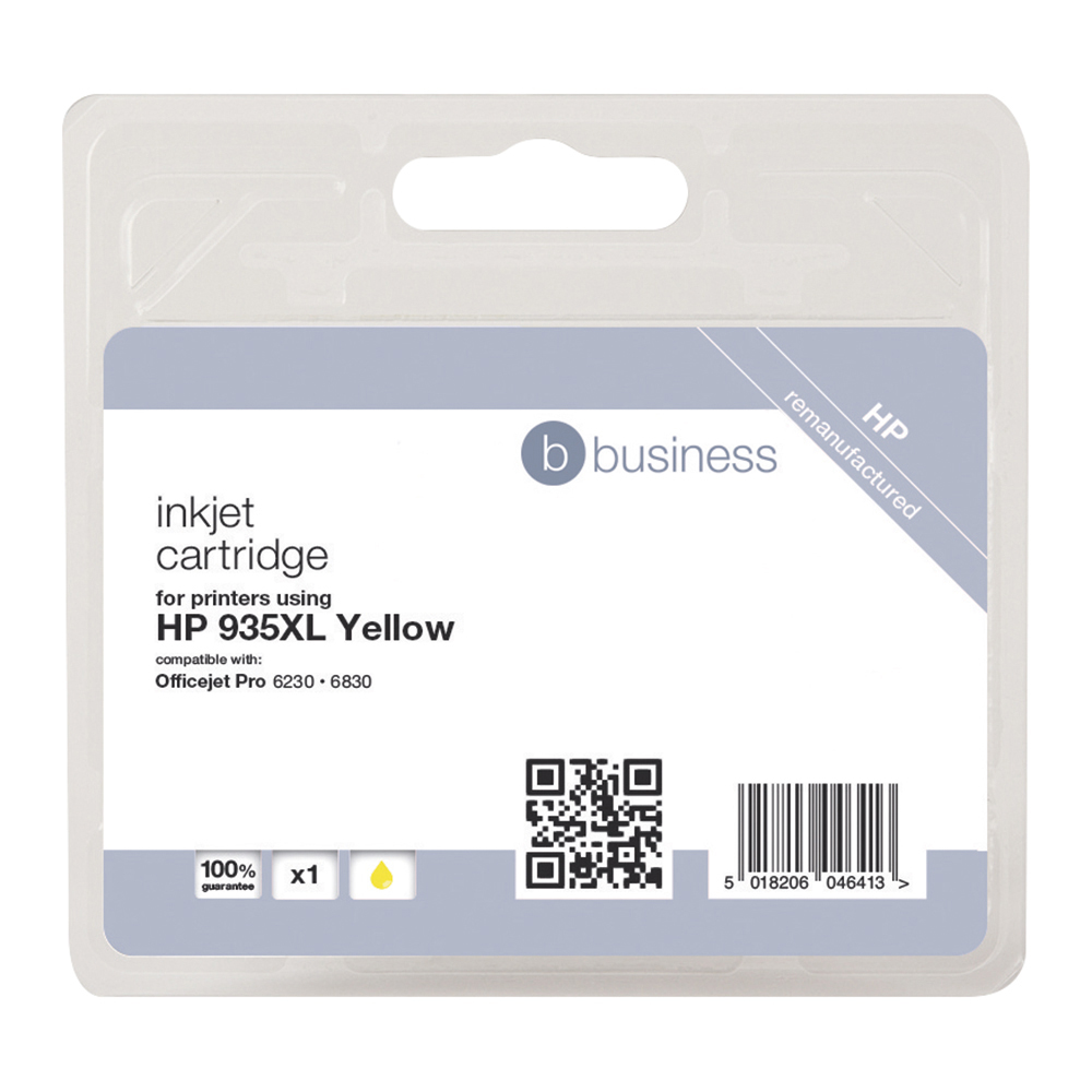 Business Compatible HP Inkjet Cartridge 935XL Yellow (Pack of 1)