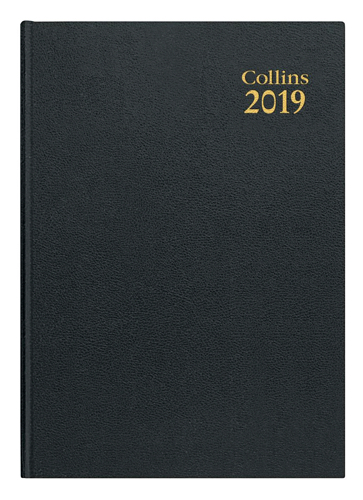 Collins 2019 Dy/Pg A5 Royal Diary 52 Blk