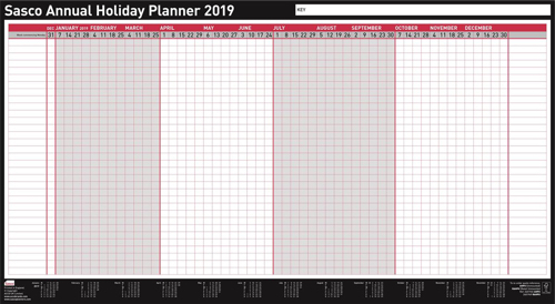 Sasco 2019 Annual Holiday Planner Unmtd