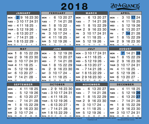 At A Glance 2019 Wall Calendar 930