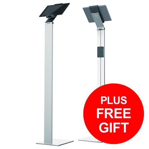 Durable Floor Tablet Holder Aluminium Ref 893223 [FREE Cleaning Kit] Apr-Jun 2018