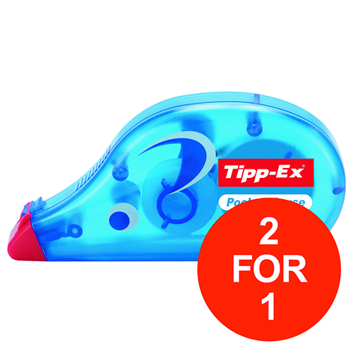 Tipp-Ex Pocket Mouse Correction Tape Roller 4.2mmx9m Ref 8207891 [Pack 10] [2 For 1] Apr-Jun 2018